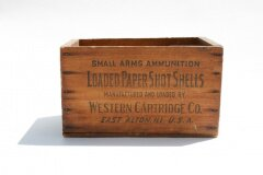Vintage wooden ammunition crate